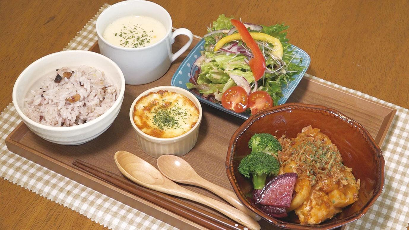 雑穀米とたっぷり野菜が楽しめる「日替わりランチ」1000円