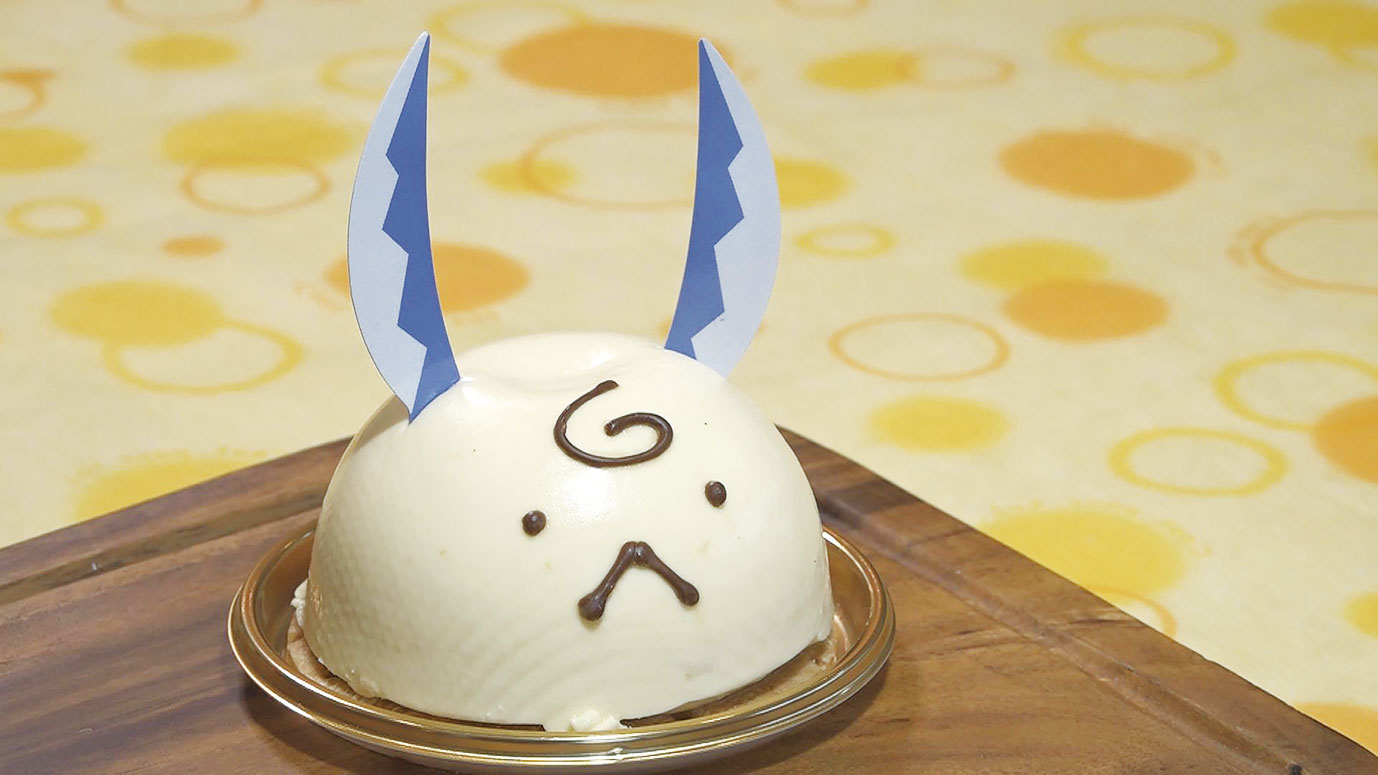 関市のゆるキャラ・はもみんをモチーフにした「はもみんケーキ」450円